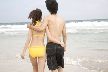39736985 - back figure of japanese couple